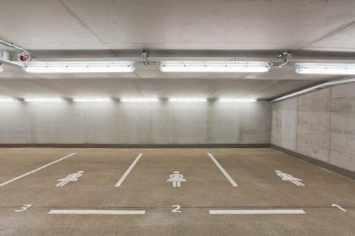 Basement「Germany, Baden Wuerttemberg, Stuttgart, Car park area for women」:スマホ壁紙(16)
