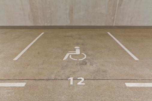 Basement「Germany, Baden Wuerttemberg, Stuttgart, Car park area for handicapped people」:スマホ壁紙(2)