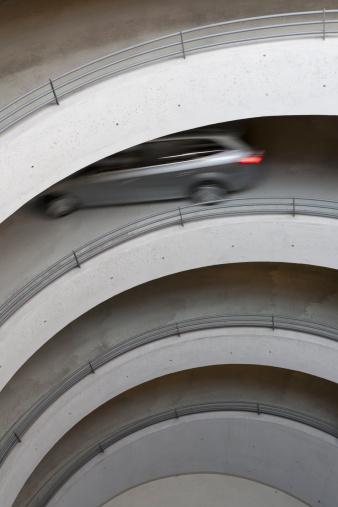 Parking Lot「Germany, Baden wuerttemberg, Stuttgart, View of car in car park」:スマホ壁紙(7)