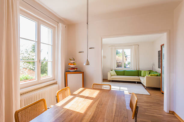 Germany, Baden-Wuerttemberg, Stuttgart, dining room and living room:スマホ壁紙(壁紙.com)