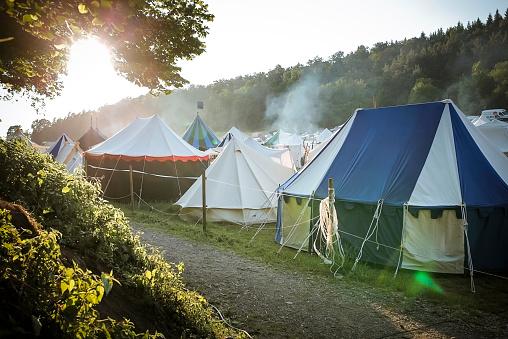 Tent「Germany, Baden-Wuerttemberg, Moensheim, tents on a medieval fair」:スマホ壁紙(18)