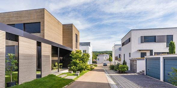 Germany「Germany, Baden-Wurttemberg, Esslingen, New energy efficient residential houses」:スマホ壁紙(13)