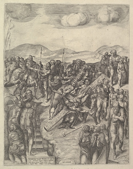 Michelangelo - Artist「The Crucifixion Of Saint Peter」:写真・画像(16)[壁紙.com]