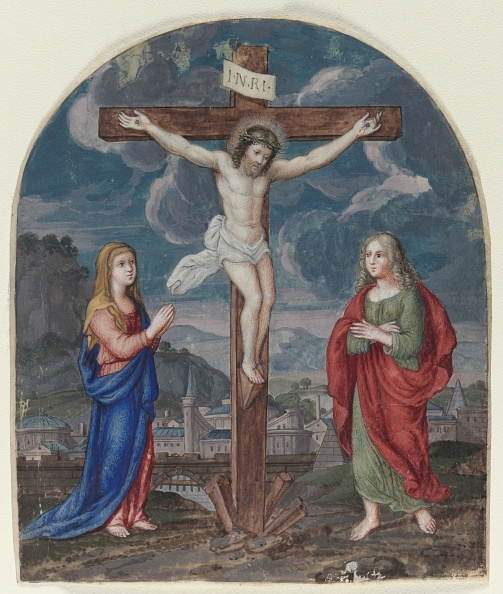 Manuscript「The Crucifixion: Miniature Excised From A Prayer Book」:写真・画像(13)[壁紙.com]