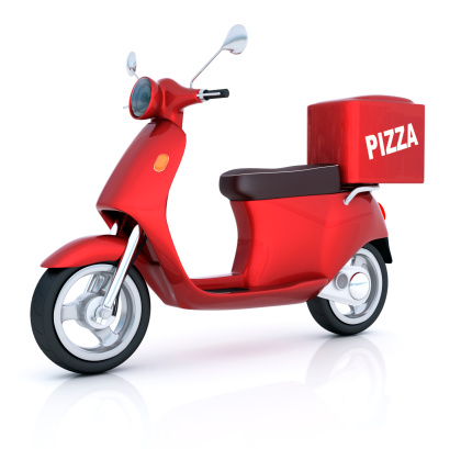 Motorcycle「Scooter for pizza delivery」:スマホ壁紙(11)