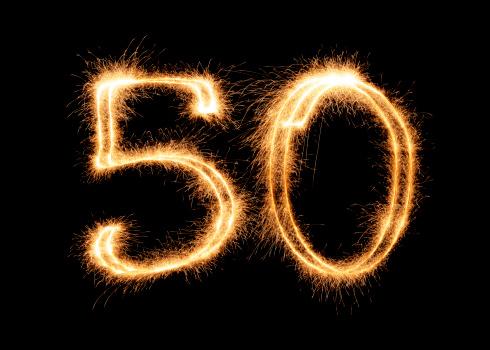記念日「輝く(XXL)数字の 50」:スマホ壁紙(7)