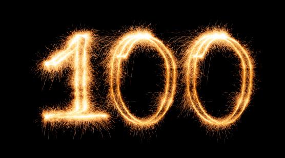 Number 100「Sparkling Number 100 (XXL)」:スマホ壁紙(9)