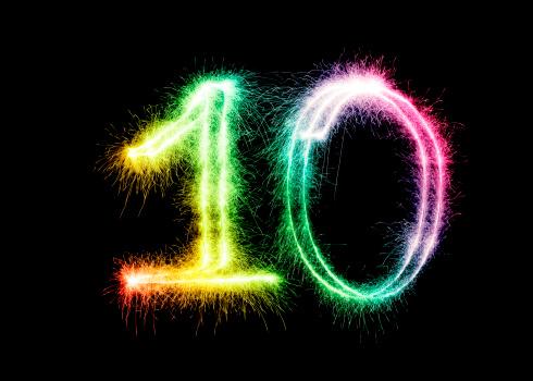 記念日「輝く番号 10 (XXL」:スマホ壁紙(4)