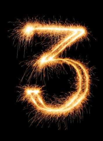 記念日「輝く番号 3」:スマホ壁紙(8)