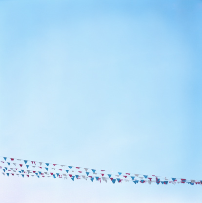 Bunting「Sales flags and sky」:スマホ壁紙(1)