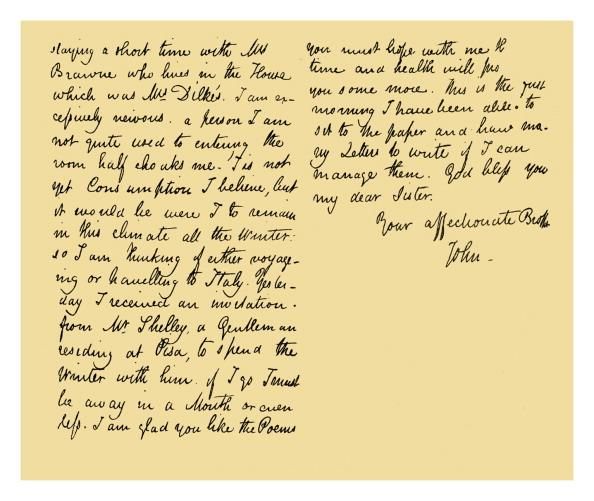 Writing「Autograph: John Keats, 1820.」:写真・画像(0)[壁紙.com]