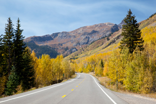 Uncompahgre National Forest「Million Dollar Highway, Uncompahgre National Forest, Colorado, USA」:スマホ壁紙(5)