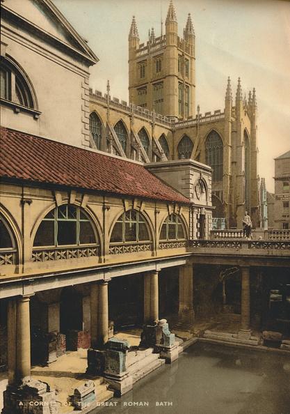 Bathhouse「Great Bath, Roman Baths, Bath, Somerset, c1925.」:写真・画像(16)[壁紙.com]
