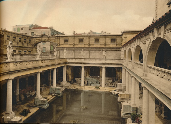 世界遺産「Great Bath, Roman Baths, Bath, Somerset, c1925.」:写真・画像(13)[壁紙.com]