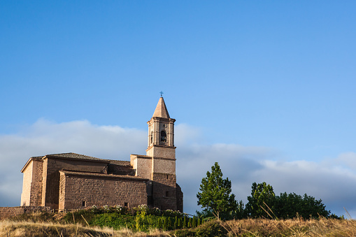 Camino De Santiago「Church at San Vicente de la Sonsierra in the Rioja region, Spain」:スマホ壁紙(2)