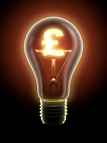 Power Supply「Lucrative idea: light bulb with pound sign, clipping path included」:スマホ壁紙(0)