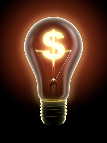 Making Money「Lucrative idea: light bulb with dollar sign, clipping path included」:スマホ壁紙(17)