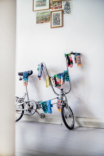 Laundry「Bicycle used as clotheshorse」:スマホ壁紙(1)