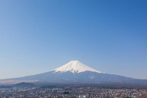 富士山「Mt. Fuji on a clear day」:スマホ壁紙(10)