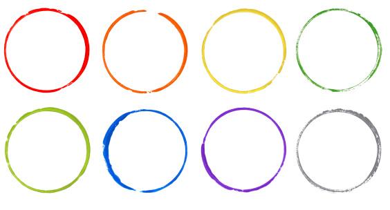 数字の8「カラフルな虹のウォーターサークル」:スマホ壁紙(17)