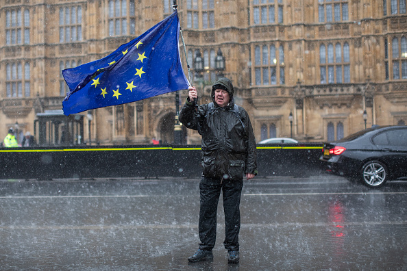 Bestof「Pro and Anti Brexit Demonstrators Protest in Westminster Ahead Of Parliament Voting On The Withdrawal Agreement」:写真・画像(9)[壁紙.com]