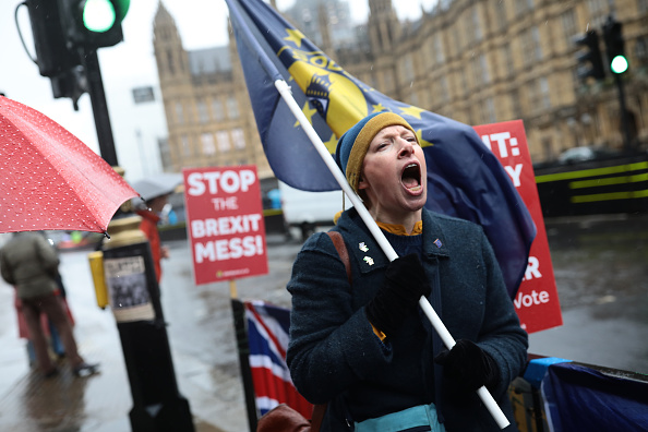 Brexit「Pro and Anti Brexit Demonstrators Protest in Westminster Ahead Of Parliament Voting On The Withdrawal Agreement」:写真・画像(14)[壁紙.com]