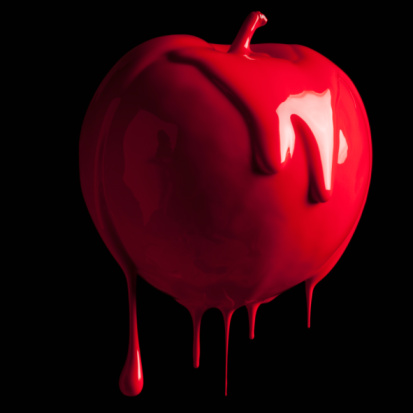 Color Image「Apple dripping with color」:スマホ壁紙(14)