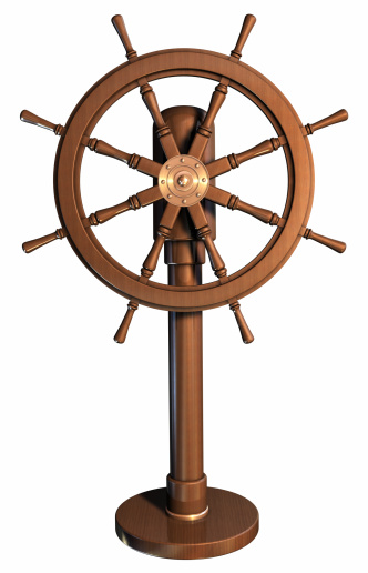 Helm「An illustration of a boat wheel made of wood」:スマホ壁紙(4)