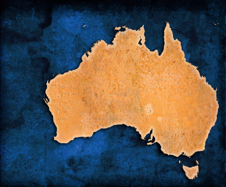 Continent - Geographic Area「An illustration of the map of Australia」:スマホ壁紙(16)