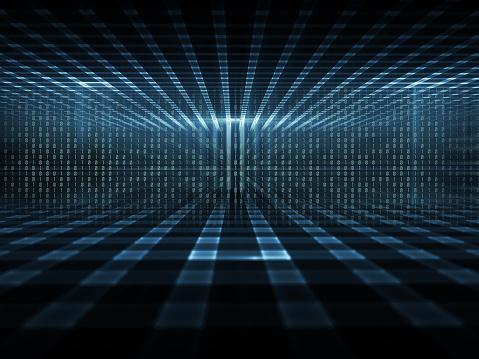 Number「Cyberspace, concept of digital data storage」:スマホ壁紙(15)