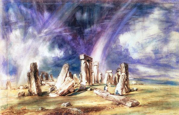 Double Rainbow「'Stonehenge', c1835. Artist: John Constable」:写真・画像(5)[壁紙.com]