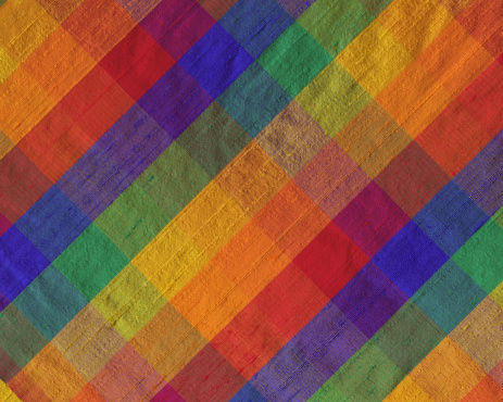 タータンチェック「明るい色合いの格子柄シルクの」:スマホ壁紙(13)