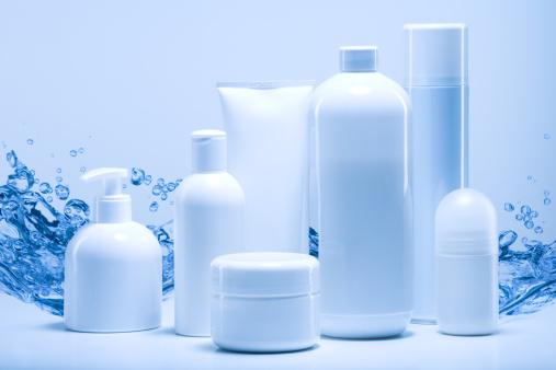 Deodorant「natural cosmetics against water background」:スマホ壁紙(11)