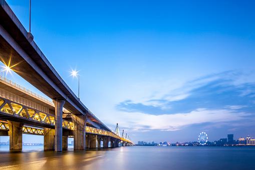 Ferris Wheel「China Nanchang, across the bridge at night.」:スマホ壁紙(7)