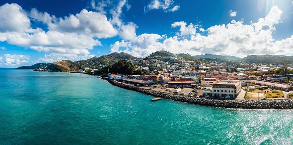 St「Antilles, Lesser Antilles, Grenada, view to St. George's」:スマホ壁紙(19)