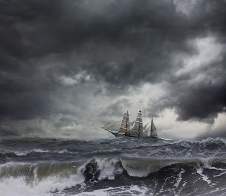 Effort「Ship sailing on stormy seas」:スマホ壁紙(10)