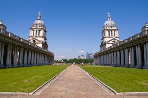 Dartmouth - England「Old Royal Naval College and Canary Wharf」:スマホ壁紙(7)