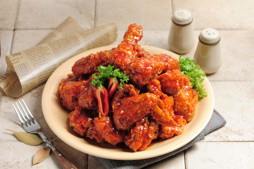 Chili Sauce「Fried chicken with chilli sauce」:スマホ壁紙(14)