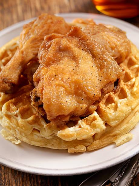 Fried Chicken and Waffles:スマホ壁紙(壁紙.com)