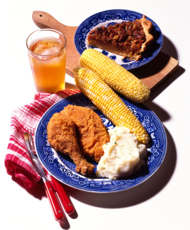 Ice Tea「Fried chicken with mashed potatoes , corn , and pecan pie」:スマホ壁紙(5)
