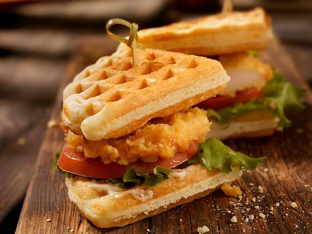 Fried Chicken and Waffle Sandwich:スマホ壁紙(壁紙.com)