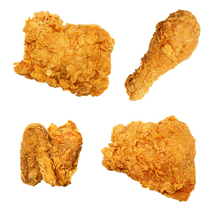 Fried Chicken「Fried Chicken Isolated Collection Assortment」:スマホ壁紙(1)