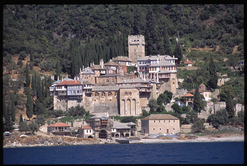 Mt Athos Monastic Republic「Dochiarou Monastery on a Shore of Mount Athos」:スマホ壁紙(16)
