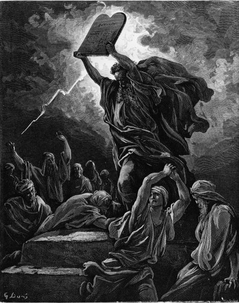 Engraving「'Moses Breaking The Tables Of The Law'」:写真・画像(5)[壁紙.com]