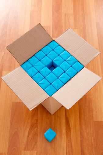 Paper Craft「Boxed blue cubes」:スマホ壁紙(16)