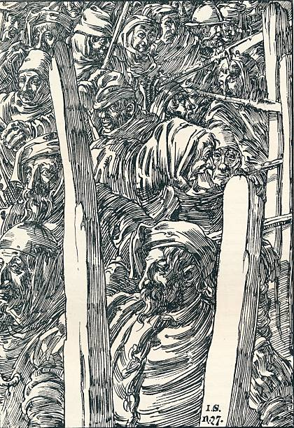 'The Peasants' Revolt', c1895. Artist: Joseph Kaspar Sattler.:ニュース(壁紙.com)