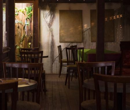 Rustic「Cozy Restaurant Interior」:スマホ壁紙(0)