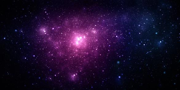 星空「パープルのスペース星雲」:スマホ壁紙(5)