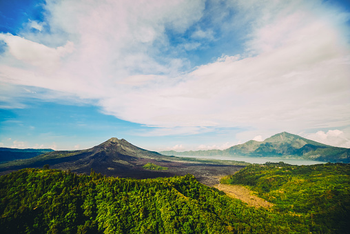 Active Volcano「Beautiful Panoramic View of Gunung Batur Vlcano in Bali」:スマホ壁紙(11)