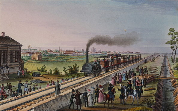Arrival「Arrival Of The First Train From St Petersburg To Tsarskoye Selo On 30 October 1837 Early 1840s」:写真・画像(1)[壁紙.com]